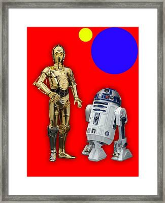 Star Wars C3po And R2d2 Collection Framed Print