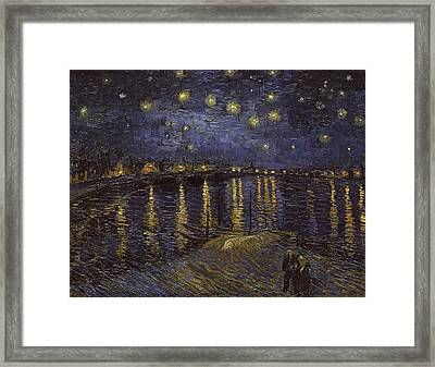 Starry Night Over The Rhone Framed Print by Starry Night