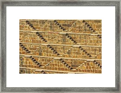 Steps At Chand Baori Framed Print