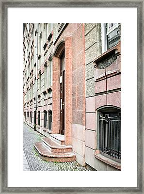 Stone Building Framed Print by Tom Gowanlock