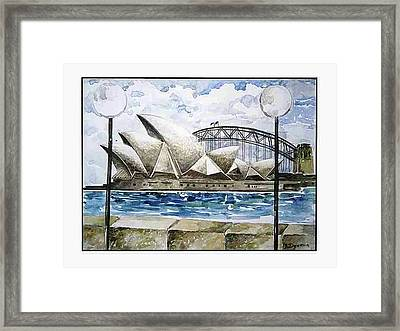 Sydney Opera House Framed Print by Yelena Revis