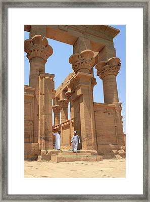 Temple Of Isis Framed Print by Silvia Bruno