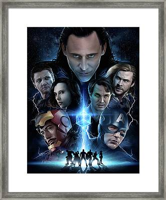 The Avengers 2012 Framed Print by Unknown
