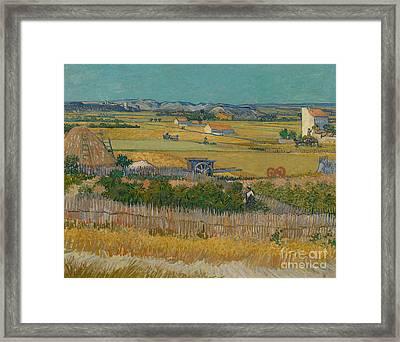 The Harvest Framed Print by Vincent Van Gogh