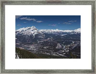Framed Print featuring the photograph The Rockies by Josef Pittner