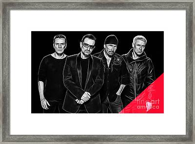 U2 Collection Framed Print by Marvin Blaine