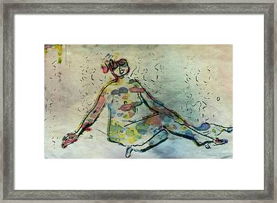Vintage Erotica By Mary Bassett Framed Print by Mary Bassett