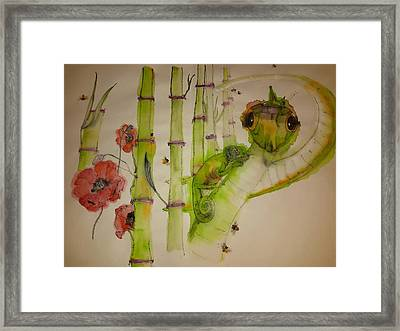 Walking Through  Garden Of Plenty Album    Framed Print
