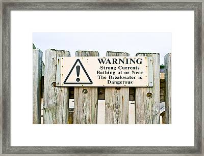 Warning Sign Framed Print