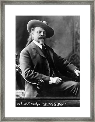 William F. Cody Aka Buffalo Bill Cody Framed Print by Everett