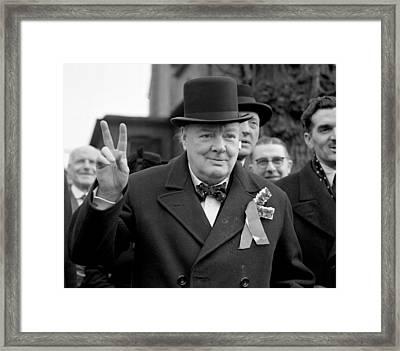 Winston Churchill Framed Print by English School