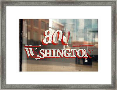 800 Washington Framed Print by Jame Hayes