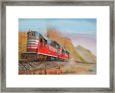 8000 Trailing Tons Framed Print by Christopher Jenkins