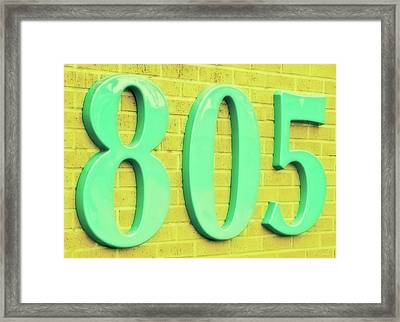 805 Emerald Green On Yellow Brick Framed Print by Tony Grider