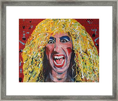 80s Hair Bands Twisted Sister Framed Print