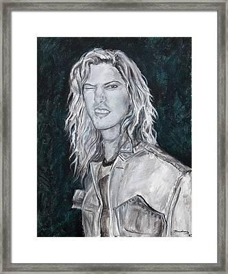 80's Rock Framed Print by Viktoria Tormassy