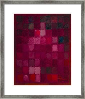 81 Color Fields - Madder Lake Framed Print