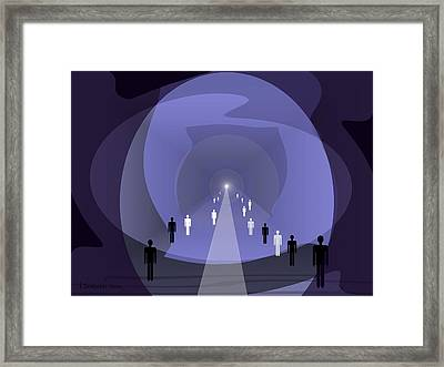 814 - Light At The End Of The Tunnel Framed Print