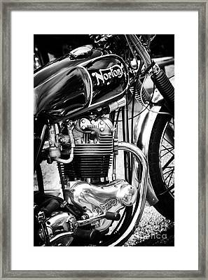 850cc Commando Monochrome Framed Print by Tim Gainey