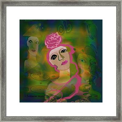 864 - La Rose Framed Print by Irmgard Schoendorf Welch