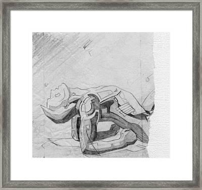 87 - 5 Detail Framed Print
