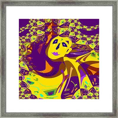 874 - Mellow Yellow Clown Lady - 2017 Framed Print