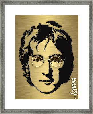 John Lennon Collection Framed Print by Marvin Blaine