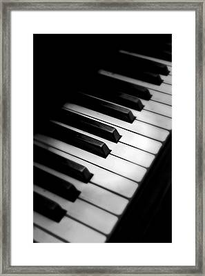 Framed Print featuring the photograph 88 Keys To The Heart by Aaron Berg