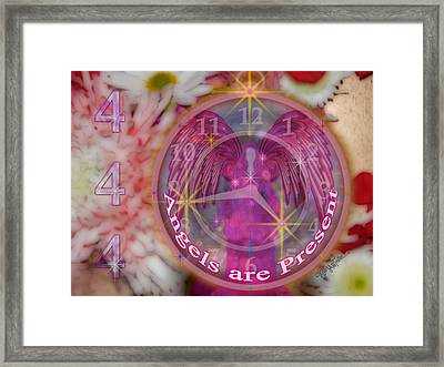 #8913_444 Angels Are Present  Framed Print