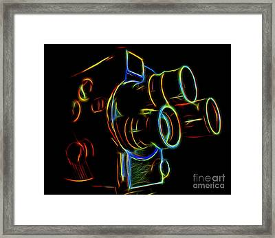 Framed Print featuring the photograph 8mm In Neon by Mark Miller