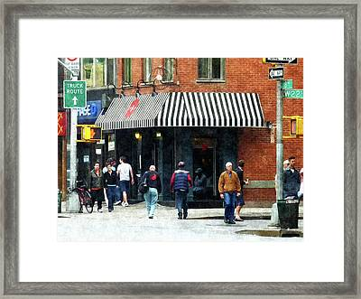 8th Ave. And W 22nd Street Chelsea Framed Print by Susan Savad