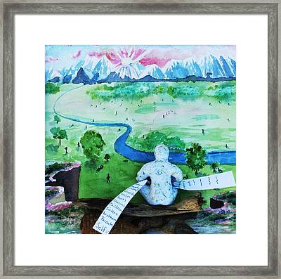8th Step Framed Print by Lucinda Blackstone