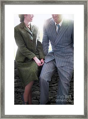 Framed Print featuring the photograph 1940s Couple by Lee Avison