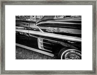 1958 Chevrolet Bel Air Impala Painted Bw    Framed Print