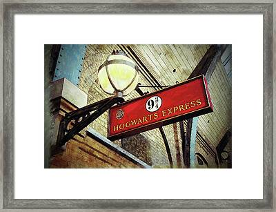 London Train Station Fantasy Framed Print by Claire Sweeney