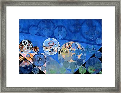 Abstract Painting - Lapis Lazuli Framed Print