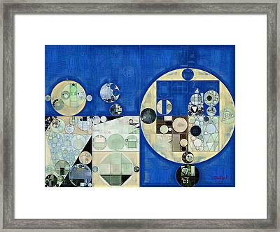 Abstract Painting - Yale Blue Framed Print