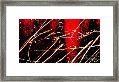 Abstract Rusted Graffiti Metal Framed Print by ELITE IMAGE photography By Chad McDermott
