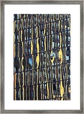 Abstract Reflection Framed Print by Tony Cordoza