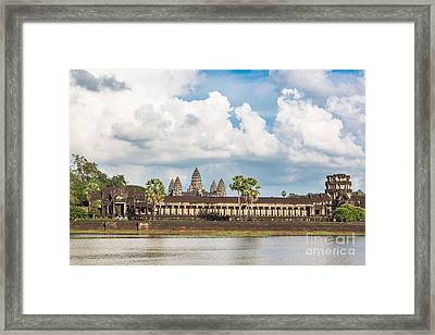 Angkor Wat In Cambodia Framed Print