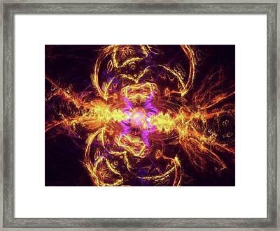 #art #digitalart #fractals Framed Print by Michal Dunaj