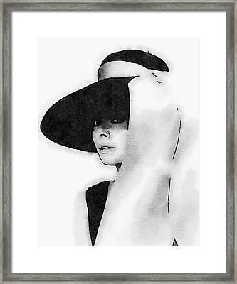 Audrey Hepburn Framed Print by John Springfield