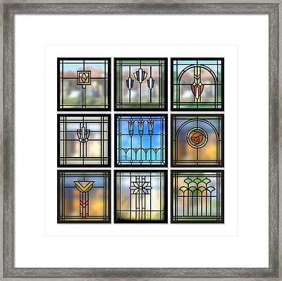 9 Bungalow Windows Framed Print