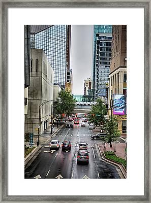 Charlotte North Carolina Views Around  Downtown Framed Print