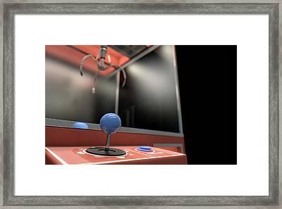 Claw Arcade Game Framed Print by Allan Swart
