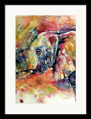 Elephants Framed Prints