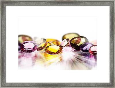 Colorful Gems Framed Print