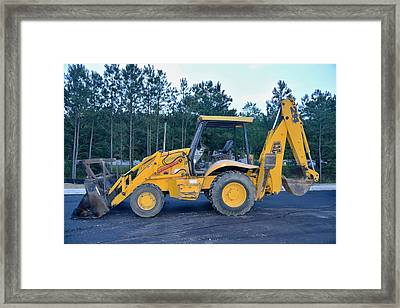 9 - Back Hoe - Construction Equipment Photo Series Framed Print by Matt Plyler