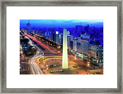9 De Julio Avenue Framed Print by Bernardo Galmarini