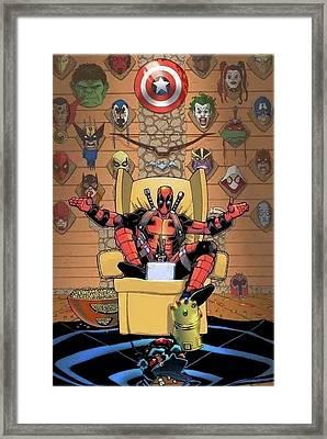 Deadpool  Framed Print by Oscar Benero Lopez